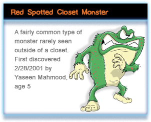 Red Spotted Closet Monster